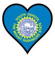 love south dakota vector image