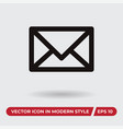 mail icon in modern style for web site and mobile vector image vector image