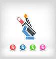 make up icon vector image