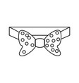 male bow tie vector image vector image