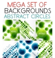 Mega collection of abstract circle patterns vector image