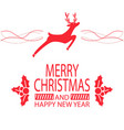 merry christmas and happy new year festive poster vector image