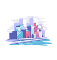 modern cityscape view vector image vector image