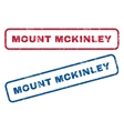 Mount Mckinley Rubber Stamps vector image vector image