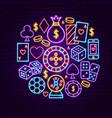 night casino neon concept vector image vector image