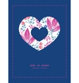 pink flowers heart symbol frame pattern invitation vector image