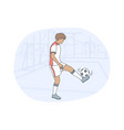 professional football player soccer ball sport vector image vector image