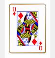 queen diamonds vector image