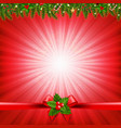 red christmas sunburst poster vector image
