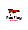 red flag logo icon vector image