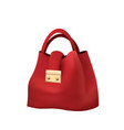 red hand bag vector image vector image