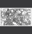 rome italy city map in black and white color vector image