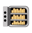 safe money box icon vector image vector image