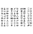 set icons icons for business finance vector image