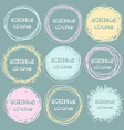 Set of bright hand-drawn scribble circles for your vector image vector image