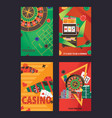 set of flyers or posters about casino and vector image