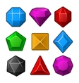 Set of Multicolored Gems for Match3 Games vector image vector image