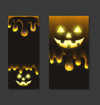 set vertical halloween banners with jack lamp vector image vector image