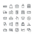 shopping commercial icons set line style vector image vector image