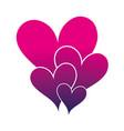 silhouette hearts passion art decoration design