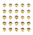 smiley flat icons set 19 vector image vector image