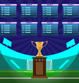 Soccer Stadium Championship vector image vector image