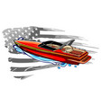 speedboat flat icon graph symbol vector image
