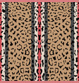 striped leopard fashion seamless pattern vector image vector image