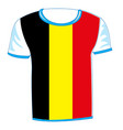 t-shirt flag to belgium vector image vector image