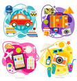 time for travel concept trendy flat vector image vector image