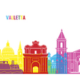 Valletta skyline pop vector image vector image
