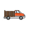 van vehicle transport vector image vector image