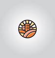 vintage building logo vector image vector image
