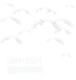 white clouds on white background vector image vector image