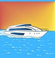 yacht pop art style comic book style vector image