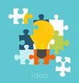 Puzzle light bulb icon vector image