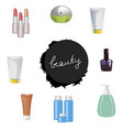 set of body care products vector image