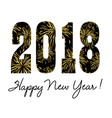 2018 with gold fireworks vector image vector image