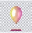 3d realistic colorful balloon holiday vector image