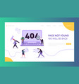 404 maintenance error landing page template vector image