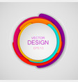 abstract colorful circle background for banner vector image