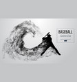 abstract silhouette of a baseball player batter vector image vector image