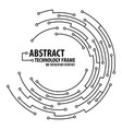 abstract technology round frame vector image