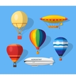 Aerostat flat icons vector image vector image