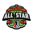 all stars football logo emblem vector image vector image