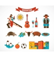 Argentina - set of icons vector image vector image