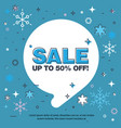 banner sale of 50 off last winter sale vector image