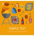 Barbecue grill card design template vector image vector image