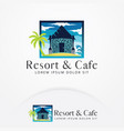 beach resort logo design vector image