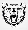 Bear Head Tattoo vector image vector image